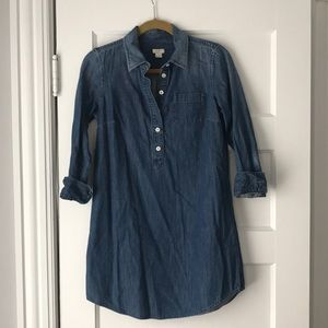J. Crew chambray shirt dress